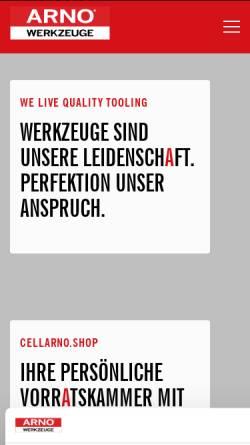 Vorschau der mobilen Webseite www.arno.de, Karl-Heinz Arnold GmbH