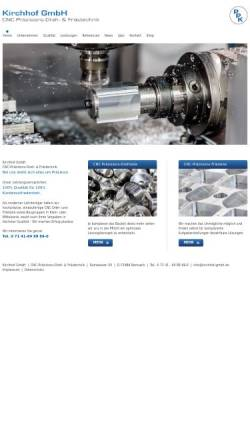 Vorschau der mobilen Webseite kirchhof-gmbh.de, Kirchhof GmbH