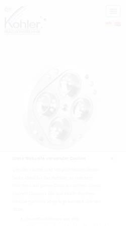 Vorschau der mobilen Webseite www.w-kohler.de, Kohler CNC-Technik, Inh. Wolfgang Kohler
