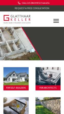 Vorschau der mobilen Webseite www.glatthaar.com, Glatthaar Fertigkeller GmbH
