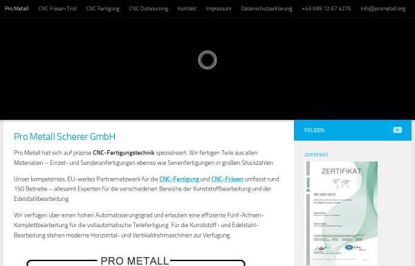 Vorschau von www.prometall.org, Pro Metall oHG