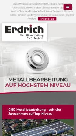 Vorschau der mobilen Webseite www.erdrichgmbh.de, Roland Erdrich GmbH