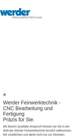Vorschau der mobilen Webseite www.samuelwerder.ch, Samuel Werder AG