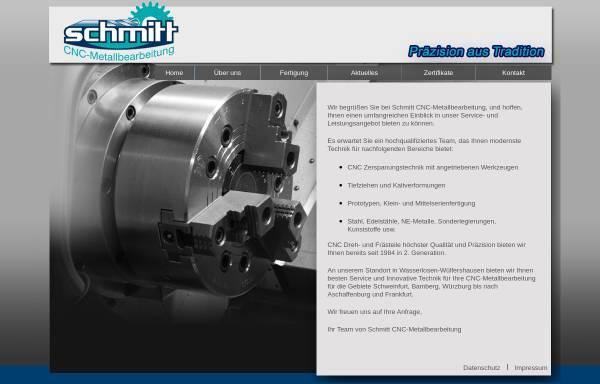 Vorschau von schmitt-cnc-metallbearbeitung.de, Schmitt CNC-Metallbearbeitung, Inh. Christian Schmitt