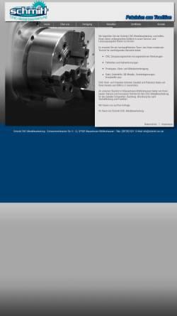 Vorschau der mobilen Webseite schmitt-cnc-metallbearbeitung.de, Schmitt CNC-Metallbearbeitung, Inh. Christian Schmitt