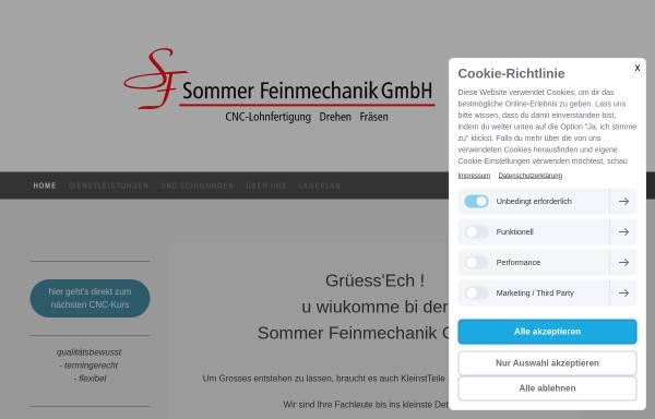 Vorschau von sommer-feinmechanik.ch, Sommer Feinmechanik GmbH