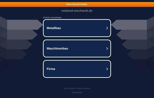 Vorschau von wieland-mechanik.de, Wieland Mechanische Werkstatt, Inh. Peter Wieland