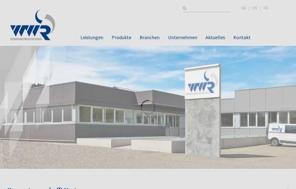 Vorschau von www.wwr-gmbh.de, WWR Zerspanungstechnik GmbH