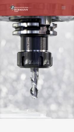 Vorschau der mobilen Webseite www.zb-gmbh.de, Zerspanungstechnik Bärmann GmbH