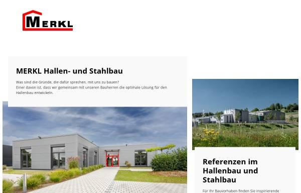 Vorschau von www.hallenbau-merkl.de, Merkl Hallen- und Stahlbau GmbH