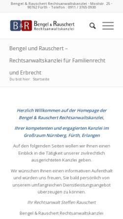 Vorschau der mobilen Webseite www.bengel-rauschert.de, Bengel & Rauschert
