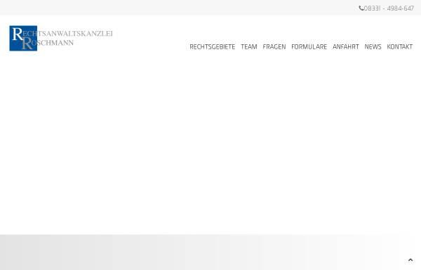 Vorschau von www.ra-roschmann.de, Roschmann Natascha M.
