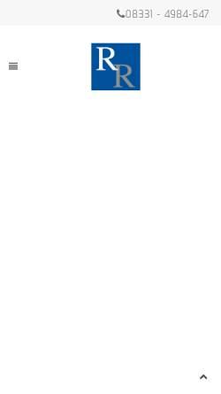 Vorschau der mobilen Webseite www.ra-roschmann.de, Roschmann Natascha M.