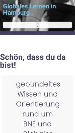 Vorschau der mobilen Webseite www.globales-lernen.de, Globales Lernen