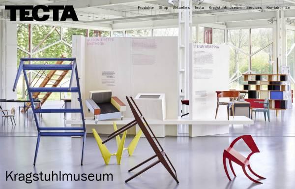 Vorschau von www.tecta.de, Lauenförde, Kragstuhlmuseum