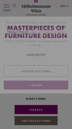 Vorschau der mobilen Webseite www.hofmobiliendepot.at, Wien, Kaiserliches Hofmobiliendepot