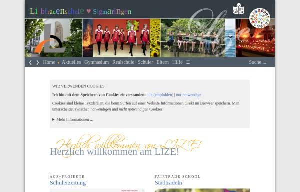 Vorschau von www.liebfrauenschule-sigmaringen.de, Liebfrauenschule Sigmaringen