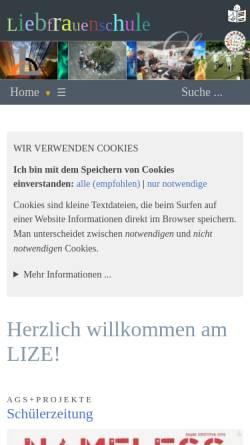 Vorschau der mobilen Webseite www.liebfrauenschule-sigmaringen.de, Liebfrauenschule Sigmaringen