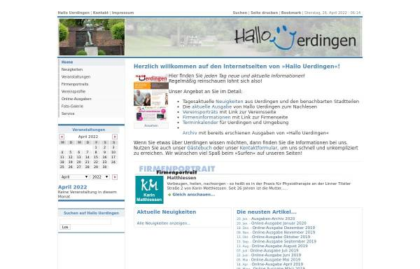 Vorschau von hallouerdingen.de, Hallo Uerdingen