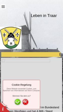 Vorschau der mobilen Webseite bv-traar.de, Traar