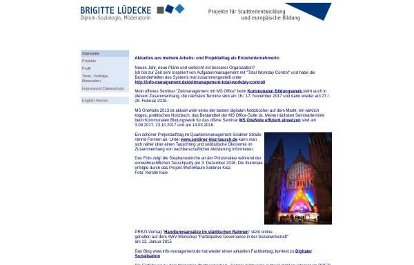 Vorschau von www.brigitte-luedecke.de, Brigitte Lüdecke