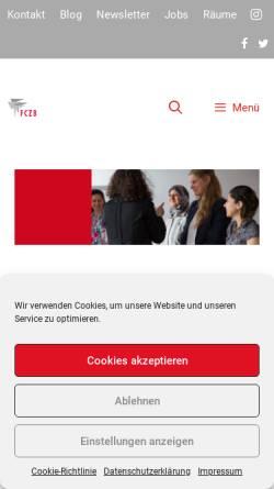 Vorschau der mobilen Webseite fczb.de, Frauen Computer Zentrum Berlin (FCZB)