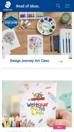 Vorschau der mobilen Webseite www.staedtler.de, Staedtler Mars GmbH & Co.