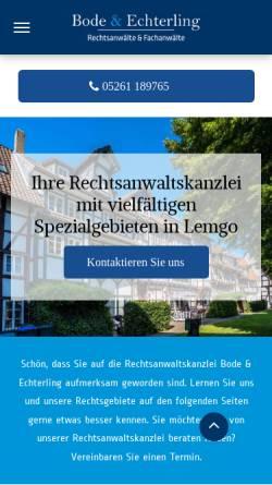 Vorschau der mobilen Webseite www.bode-evers.de, Bode & Evers