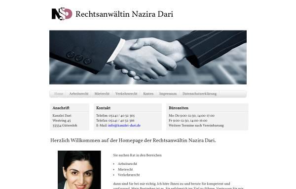 Vorschau von www.kanzlei-dari.de, Dari Nazira