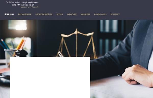 Vorschau von www.kanzlei-am-ostpark.de, Dr. Behrens, Daalmann, Wolff, Peitz, Kapitány & Mauntel