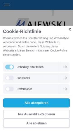 Vorschau der mobilen Webseite www.rae-jaecker.de, Dr. Jäcker & Majewski