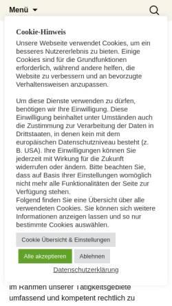 Vorschau der mobilen Webseite www.dr-nelles.de, Dr. Nelles, Raisner & Partner