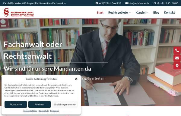 Vorschau von www.rae-we.de, Dr. Weber & Weber