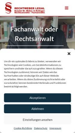 Vorschau der mobilen Webseite www.rae-we.de, Dr. Weber & Weber