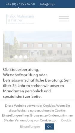 Vorschau der mobilen Webseite www.herne-steuern.de, Falck - Herrmann - Mohrmann