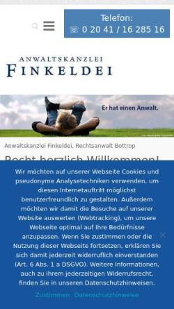 Vorschau der mobilen Webseite finkeldei-online.de, Finkeldei Nils