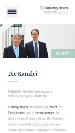 Vorschau der mobilen Webseite frohberg-meurer.de, Frohberg.Meurer - Notare und Rechtsanwälte