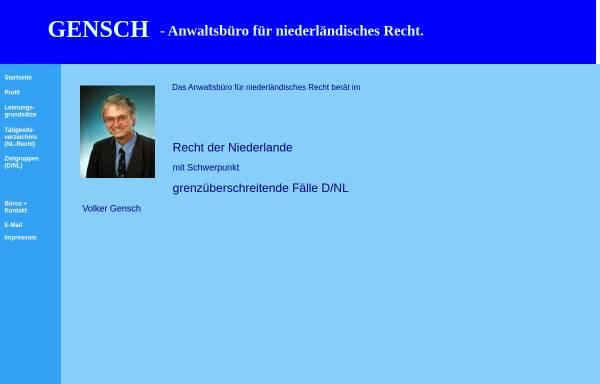 Vorschau von www.gensch-ra.de, Gensch Volker