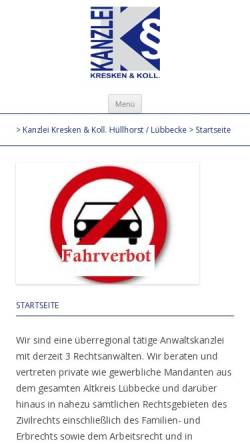 Vorschau der mobilen Webseite www.jur24.de, Goebel & Kresken