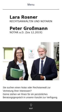 Vorschau der mobilen Webseite www.rechtsanwalt-notar-grossmann.de, Großmann Peter