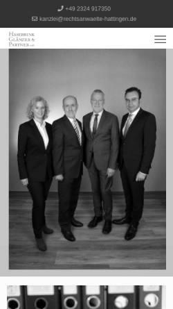 Vorschau der mobilen Webseite www.rechtsanwalt-hasebrink.de, Hasebrink, Dübbers, Heimann