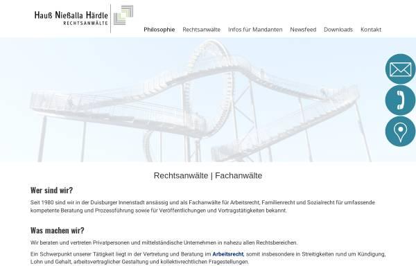 Vorschau von www.anwaelte-du.de, Hauß & Nießalla
