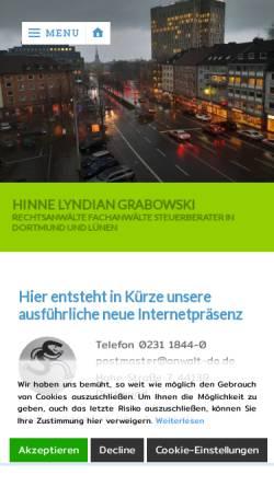 Vorschau der mobilen Webseite www.anwalt-do.de, Hinne, Grotefels, Lyndian und Grabowski