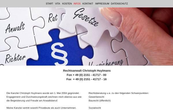 Vorschau von www.ra-hpw.de, Huylmans - Peters - Wagner