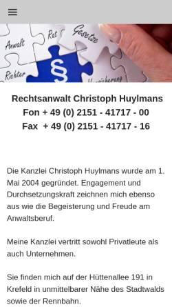 Vorschau der mobilen Webseite www.ra-hpw.de, Huylmans - Peters - Wagner