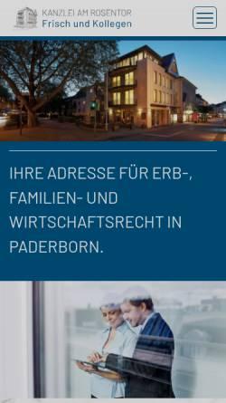 Vorschau der mobilen Webseite www.kanzlei-am-rosentor.de, Kanzlei am Rosentor
