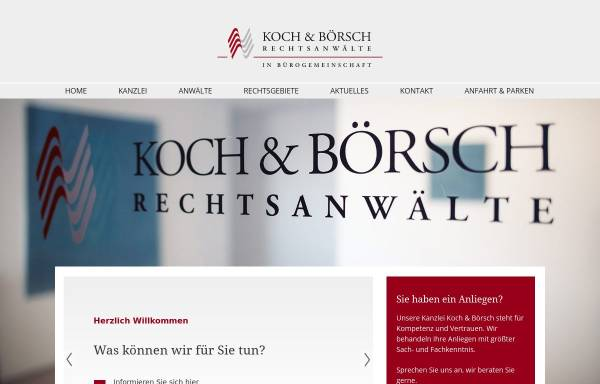 Vorschau von www.kochundboersch.de, Koch und Börsch