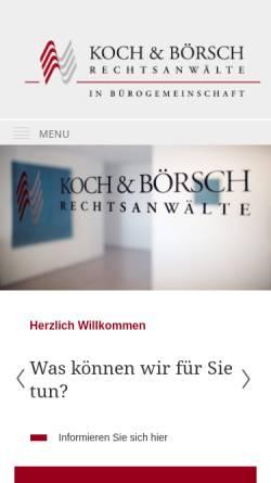 Vorschau der mobilen Webseite www.kochundboersch.de, Koch und Börsch