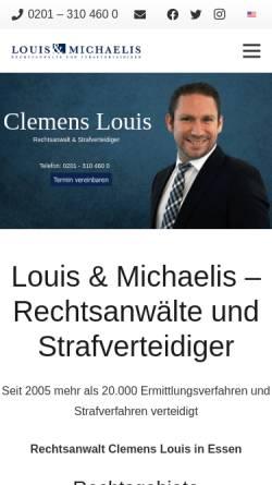 Vorschau der mobilen Webseite www.rechtsanwalt-louis.de, Louis, Clemens