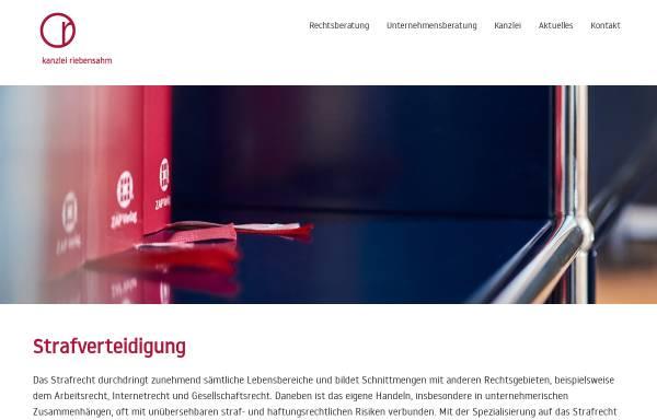 Vorschau von www.ra-riebensahm.de, Riebensahm Susanne